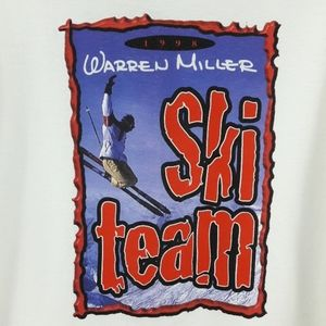 Vintage Shirts - Vtg 90s Warren Miller Ski Team T Shirt Size XL